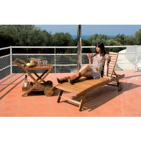 Lettino prendisole Mod. Lounger in legno balau finitura ad olio - arredo giardino piscina terrazzo