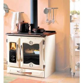 Cucina a legna Nordica Mod. Suprema crema 10.3 kW 229 m³ - stufa riscaldamento casa arredo interni