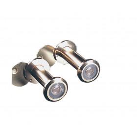 Spioncino 3 lenti visibilità 200° finitura oro lucido ø 12 lungh 40÷60