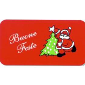 Zerbino Mod. Buone feste cm. 50x67h - Natale luci albero decori feste