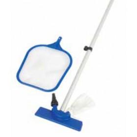 Kit di manutenzione per piscina Bestway Mod. 58098 con retino - aspiratore con sacco - manico telescopico