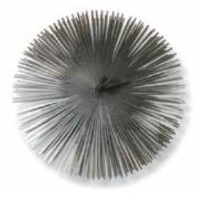 Scovolo tondo in acciaio per camino diametro cm. 15 - casa riscaldamento
