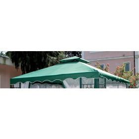 Top di ricambio per gazebo verde m. 3x3 in poliestere 180 g/mq - arredo casa giardino