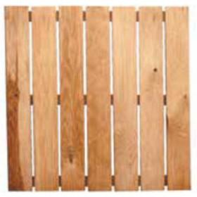 Pedana antiscivolo in legno di pino impregnato cm. 50X50 - arredo giardino esterni piscina doccia