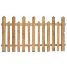 Steccato in legno di pino impregnato cm. 175x90/100 - arredo casa giardino