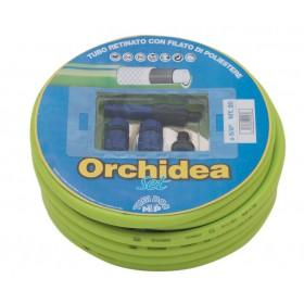 Kit 5 pz Set Tubo attrezzato 20 m irrigazione giardino Mod ORCHIDEA
