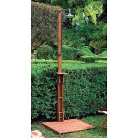 Doccia da esterno in legno balau con pedana Mod. Caraibi - arredo giardino esterni piscina