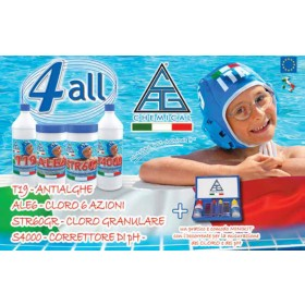 Kit pulizia piscina - Mod. 4 ALL - C.A.G. Chemical
