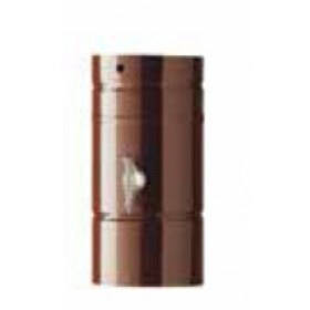 Tubo stufa cm. 25 forato per Serranda in acciaio porcellanato bianco diametro cm. 10 - impianto riscaldamento casa