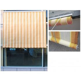 Tenda da sole a rullo cm 150x300h fantasia beige rigato Mod SOLARIS