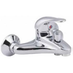 Miscelatore vasca con doccia monocomando in ottone cromato - Serie Sfera