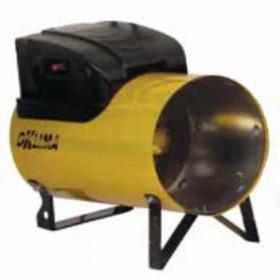 Generatore di aria calda a gas propano - butano potenza regolabile Mod. SG180M portata 1250 m³/h - riscaldamento officina cantiere garage serra