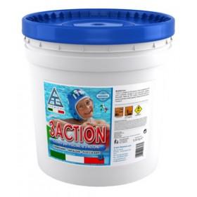 Cloro multifunzione in pasticche per piscine -  Mod. 3ACTION - C.A.G. Chemical - Confezione da 5 kg