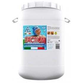 Cloro multifunzione in pasticche per piscine -  Mod. 3ACTION - C.A.G. Chemical - Confezione da 25 kg