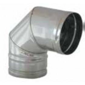 Gomito 90° per tubi stufa in acciaio inox diametro cm. 13 - impianto riscaldamento casa