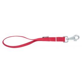 Guinzaglio cane nylon rosso lunghezza cm 120 largh mm 25 - Mod CLUB