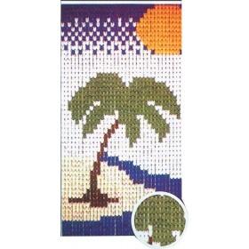 Tenda piastrine 40 mm disegno palma dimensioni cm 125x240h