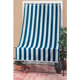 Tenda da sole sormonto cotone poliestere cm 200x300h blu rigato