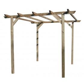 Pergola in legno di pino m. 3x3x2.2 - arredo casa giardino balcone