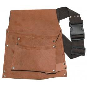 Borsa per carpentiere con tasche e portamartello completo di cintura