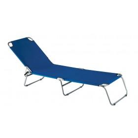 Lettino pieghevole serie Katia struttura in accaio colore avion - sedia giardino mare campeggio
