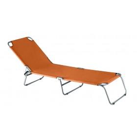Lettino pieghevole serie Katia struttura in accaio colore arancione - sedia giardino mare campeggio