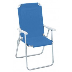 Poltrona pieghevole serie Katia struttura in accaio colore avion - sedia giardino mare campeggio