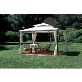 Gazebo Top Alu m. 3x4 struttura in legno e alluminio top ecr? completo di teli laterali - arredo casa giardino