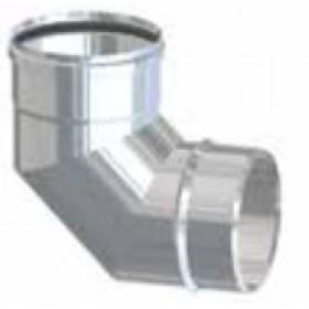 Gomito 90° per tubi stufa a pellet in acciaio inox diametro cm. 8 attacco FM - impianto riscaldamento casa
