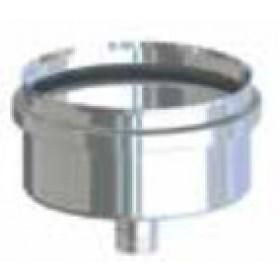 Scarico condensa per tubi stufa a pellet in acciaio inox diametro cm. 8 attacco F - impianto riscaldamento casa