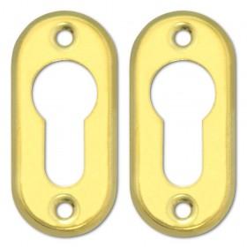 Coppia Borchie ottonate CISA per cilindri profilo europeo Art 06012.00.0