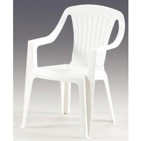Poltrona Mod. Arredo Baby in resina bianca sedia per bambini - arredo casa giardino