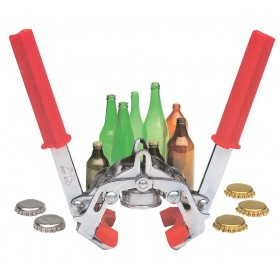 Turabottiglie Tappatrice a 2 mani per tappi corona 26 mm