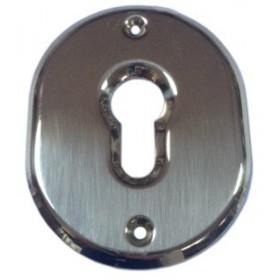 Bocchetta ottone serrature profilo europeo finitura cromo satinato Art F 0232