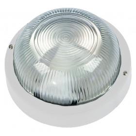 Plafoniera tonda 60W FME mm 180x100 colore bianco IP44 Art 62.710
