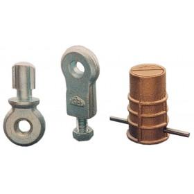 Gruppo fissaggio per lucchetto a campana ISEO per serrande Art 004