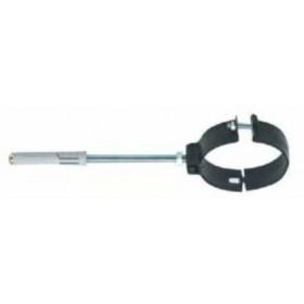 Collare porcellanato pesante per tubi stufa verniciato nero opaco diametro cm. 13 - impianto riscaldamento casa