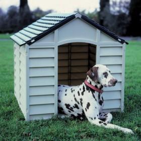 Cuccia per cani resina PVC grigio/verde cm 78x84x60/80h