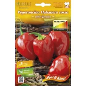 Semi orto Peperoncino Habanero rosso conf 5 pz agricoltura giardinaggio