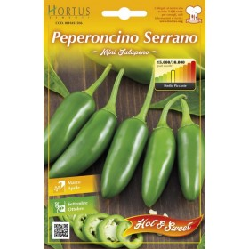 Semi orto Peperoncino Serrano conf 5 pezzi agricoltura giardinaggio