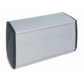 Cassapanca Terry in resina antiurto Mod. Box 120 Qblack cm. 140x54x57h - arredo casa giardino