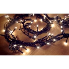 Catena luminosa 100 luci LED bianco con controller e 8 giochi di luce per uso interno - luci albero decori Natale