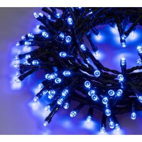 Catena luminosa 180 luci LED blu con controller e 8 giochi di luce per uso interno ed esterno - luci albero decori Natale