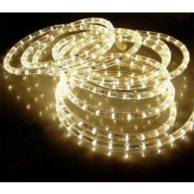 Tubo luminoso LED da 8 ml bianco caldo con giochi di luce flash - luci albero decori Natale