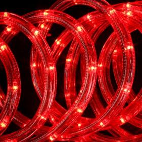 Tubo luminoso LED da 8 ml rosso con giochi di luce flash - luci albero decori Natale