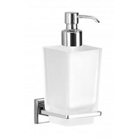 Distributore di sapone in ottone cromato e vetro satianto Portasapone bagno Gedy Art. 6981 - Mod. COLORADO
