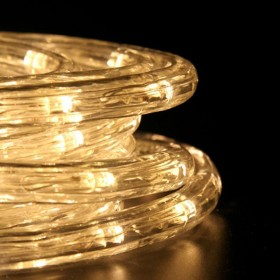 Tubo luminoso LED da 50 ml bianco caldo a luce fissa - luci albero decori Natale
