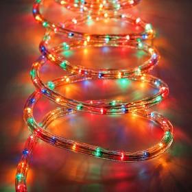 Tubo luminoso LED da 50 ml multicolor a luce fissa - luci albero decori Natale