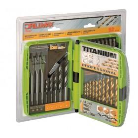 Set 52 accessori per trapano DRILLMAX assortimento punte e inserti