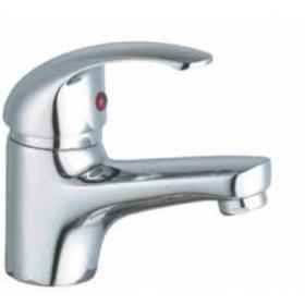 Miscelatore lavabo monocomando in ottone cromato con scarico automatico - Serie Euro
